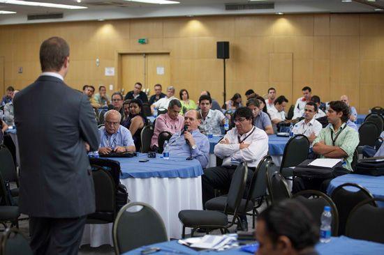 A palestra do consultor Stephan Keese, da Roland Berger, foi uma das atrações do ENAN 2013
