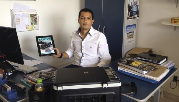 """""""Utilizo muito a versão para  tablets da revista. Ela facilita muito o meu dia a dia"""" Afirmou Humberto Galvão"""