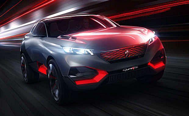 O concept car Peugeot Quartz, SUV apresentado no Salão de Paris de 2014