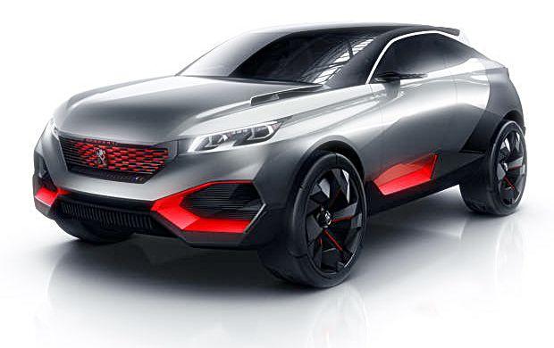 Os detalhes em vermelho  contrastam com a pintura prata e grafite e dão um ar ainda mais agressivo ao Peugeot Quartz