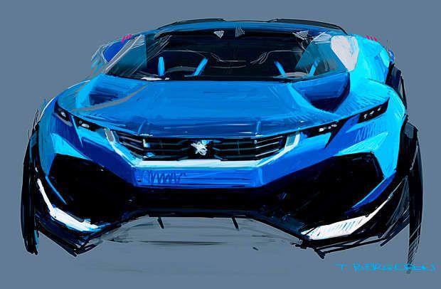 Os traços dos designers da montadora francesa indicam a aparência agressiva do Peugeot Quartz
