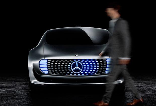 Concept car apresentado pela Mercedes-Benz na CES 2015