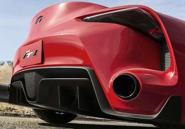 Detalhe da traseira do concept Toyota FT-1