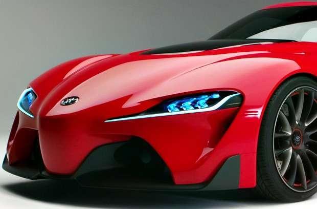 Detalhe da frente do concept Toyota FT-1