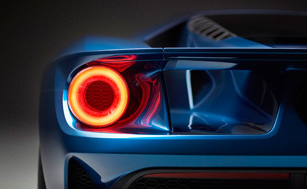 Traseira do Ford GT