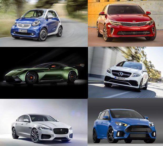 O novo Smart, o Kia Optima, o concept Aston Martin Vulcan, a Mercedes-Benz GLE, o Jaguar XF e o Ford Focus RS, alguns dos lançamentos do Salão de Nova Iorque 2015