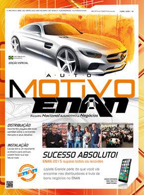 Capa da edição de Abril de 2015 da revista de som e acessórios AutoMOTIVO