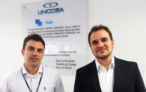 Rodofo Oliveira e Vinicius Massarotti, Gerentes da Unicoba, fornecedora de som automotivo