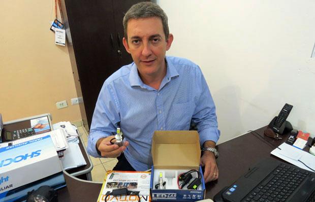 Marcos Rosa, diretor da Shocklight acessórios automotivos