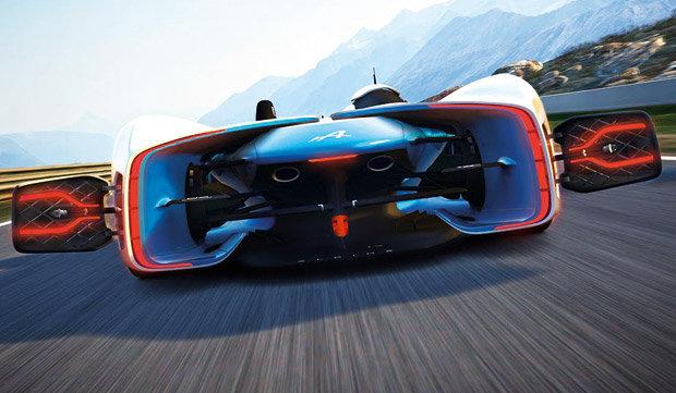Traseira com flaps do Alpine Vision Gran Turismo concept