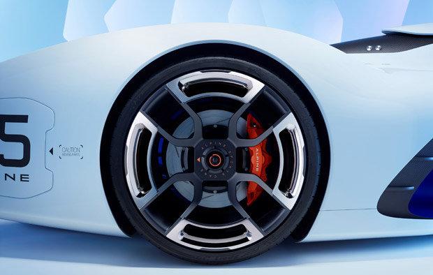 Rodas do Alpine Vision Gran Turismo concept - detalhe