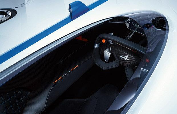Cockpit do Alpine Vision Gran Turismo concept