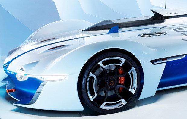 Detalhe do Alpine Vision Gran Turismo concept