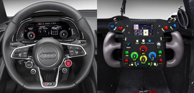 Volante normal e de competição Audi