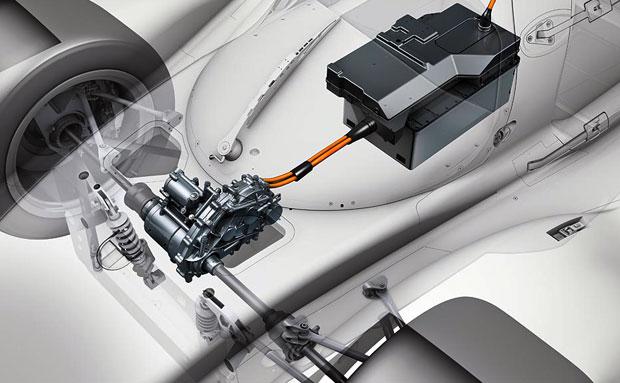 Tração elétrica dianteira - Porsche
