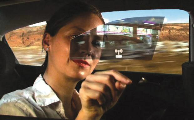 Active window display, acessório que usa os vidros do carro como telas
