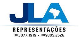 logo da  JLA Representações, representante de empresas de som e acessórios automotivos em Belo Horizonte, MG