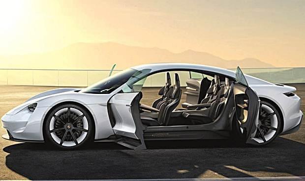 Porsche Mission E Concept visto de lado