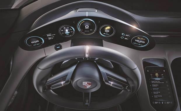 Painel de instrumentos do Porsche Mission E Concept