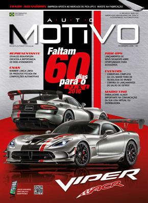 Capa da edição 101, de Fevereiro de 2016, da revista AutoMOTIVO
