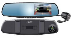 Retrovisor display com câmera embutida e câmera de ré, da RayX