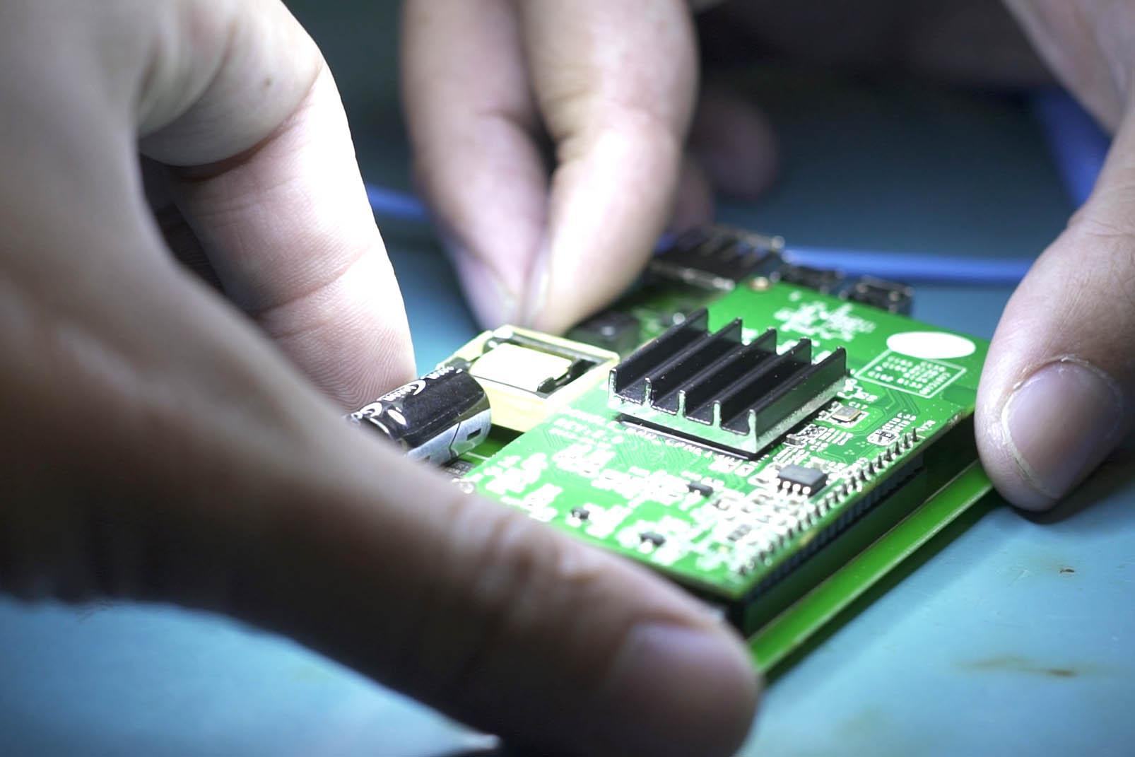 Placas de circuito impresso prontas para montagem final