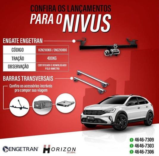 Horizon Global lança acessórios para o VW Nivus