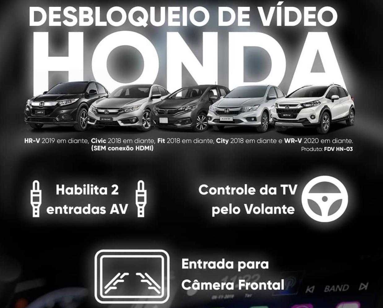 Desbloqueio de vídeo Flexitron para linha Honda