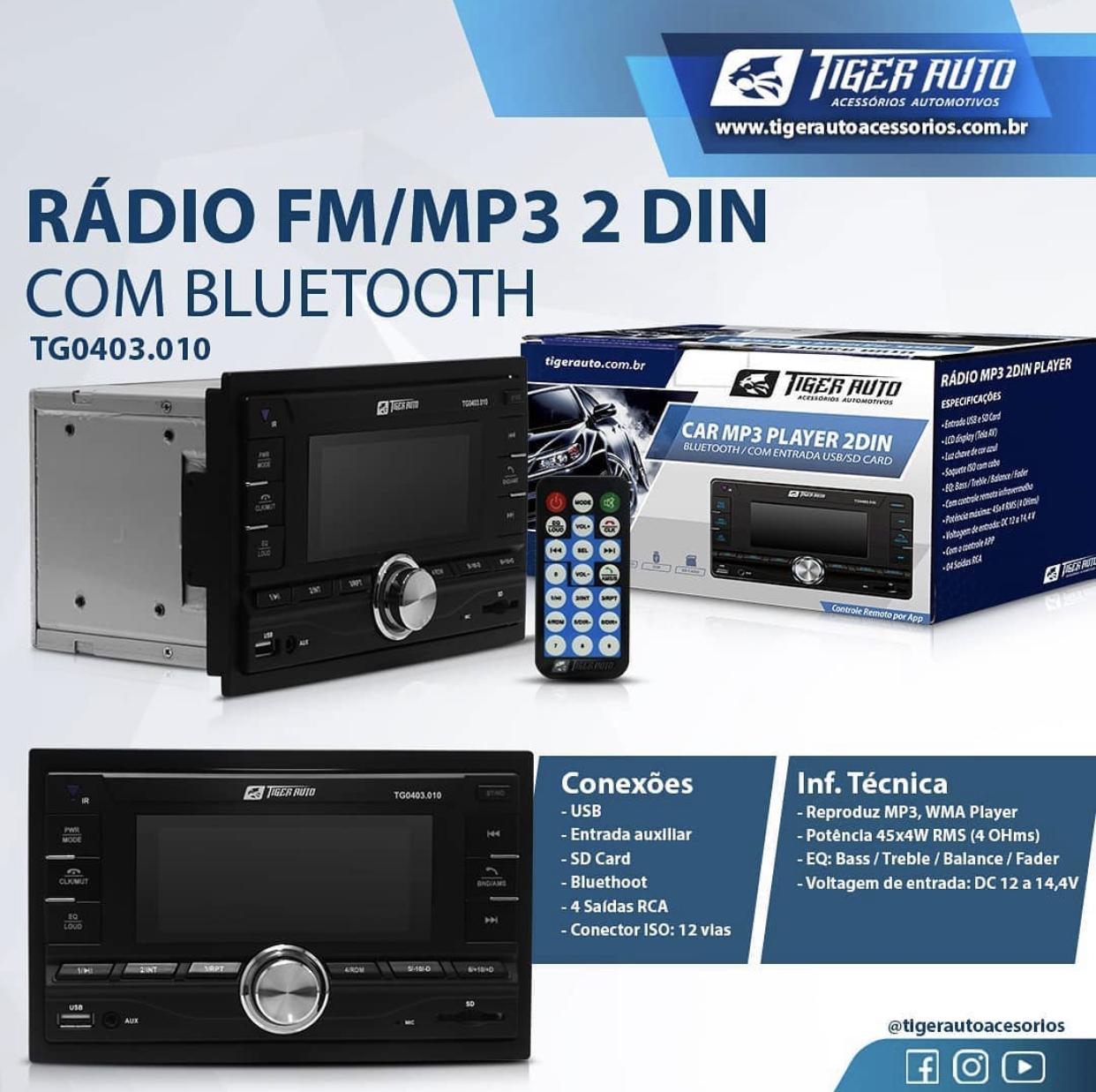 Tiger Auto apresenta novo rádio com MP3