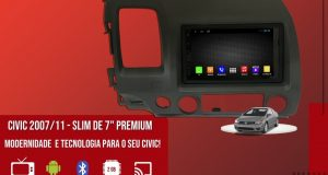 Kronos destaca central multimídia slim premium para Honda Civic 2007/2011