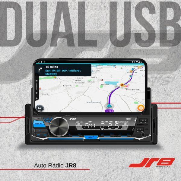JR8 Imports destaca auto rádio R8