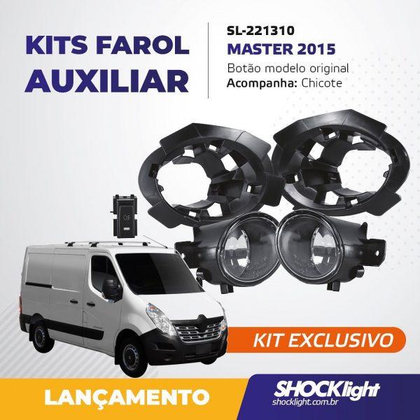 Shocklight lança kit de farol auxiliar para Renault Master