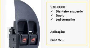 Almapy destaca interruptores para Fiat Palio