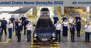 Hyundai Creta 2022 já é produzido no Brasil; Modelo será lançado no dia 25 de agosto