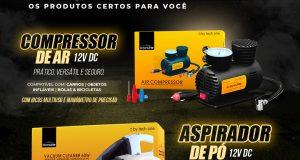 Tech One destaca compressor de ar 12V DC e aspirador de pó 12V DC da linha Code